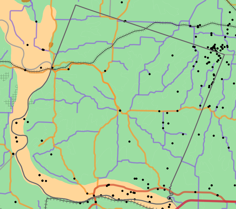 Geology locality map for Howard County, Missouri