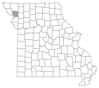 Locator map for Andrew County, Missouri