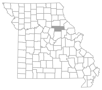 Locator map for Audrain County, Missouri