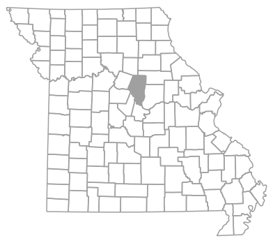 Locator map for Boone County, Missouri