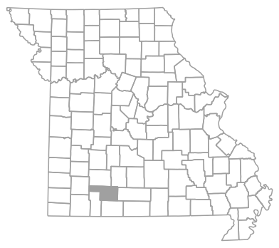 Locator map for Christian County, Missouri