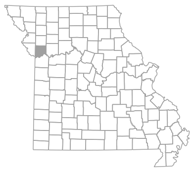 Locator map for Clay County, Missouri