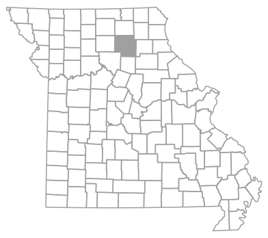 Locator map for Macon County, Missouri