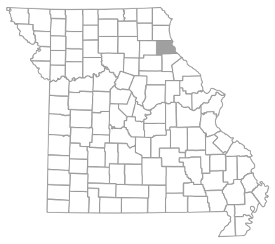 Locator map for Marion County, Missouri