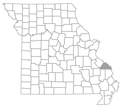 Locator map for Perry County, Missouri