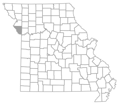 Locator map for Platte County, Missouri
