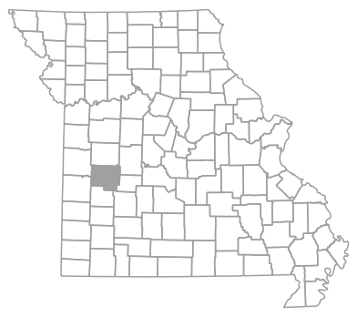 Locator map for Saint Clair County, Missouri
