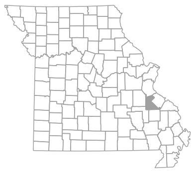 Locator map for Saint Francois County, Missouri
