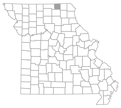 Locator map for Schuyler County, Missouri