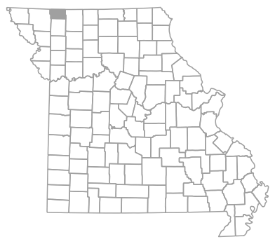 Locator map for Worth County, Missouri