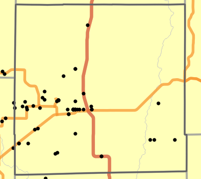 Major watersheds locality map for Grundy County, Missouri