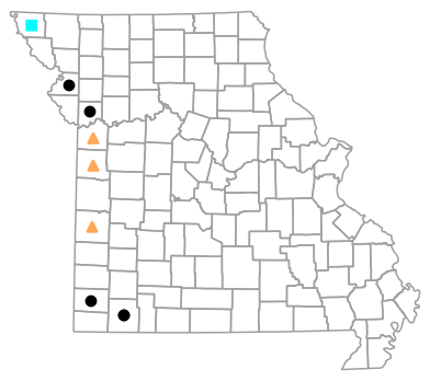 Historical county map for Plestiodon obsoletus (Great Plains Skink)
