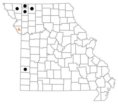 Historical county map for Plestiodon septentrionalis (Prairie Skink)