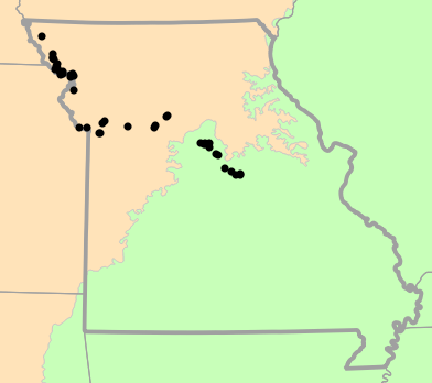 Level I Ecoregions map for Anaxyrus cognatus (Great Plains Toad)