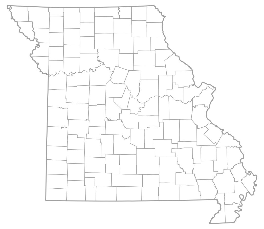 MOHAP Missouri County Map - Missouri county map